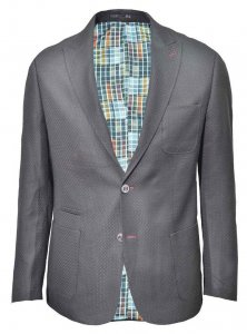 Spazio Patterned Blazer Jacket Black BL-4989