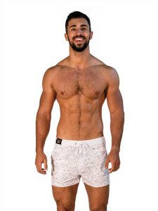 Mister B Urban Santa Monica Shorts Swimwear White 821310