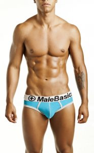MaleBasics Contrast Brief Underwear Turquoise MB003