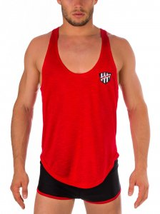Barcode Berlin Salem Tank Top T Shirt Red 91313-300