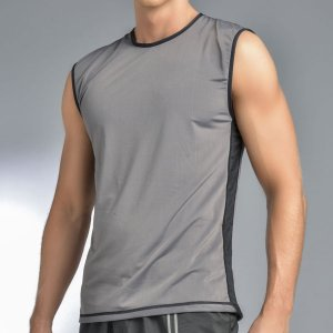 Gigo SPORT GREY Tank Top T Shirt