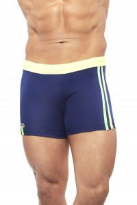 Narciso Square Cut Trunk Swimwear NATAL NAVY BLUE/YELLOW