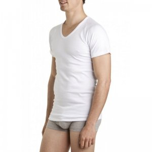 [3 Pack] Bonds Deep Crew Short Sleeved T Shirt White M912