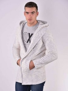 Roberto Lucca Textured Hooded Cardigan Raw White 80272-00110