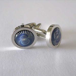 Distino Of Melbourne Formal Blue Swirl Cufflinks C22