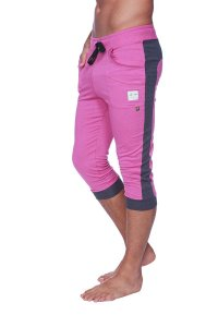 4-rth Cuffed Yoga 3/4 Pants Berry/Charcoal