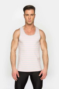 ST33LE Summer Stripe Tank Top T Shirt Pink STL024PNK