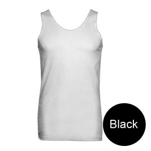 Minerva Wool Vest Muscle Top T Shirt Black 10300