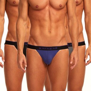 Papi [3 Pack] Cotton Stretch Jock Strap Underwear Purple 980911