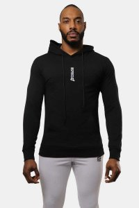 Jed North Motive Hoodie Long Sleeved Sweater Black JNTOP031