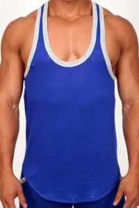 Pistol Pete Excel Tank Top T Shirt Royal TK197-732