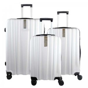 Jett Black Knight Series Luggages White