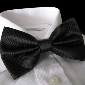 Distino Of Melbourne Grid Bow Tie Charcoal DB2