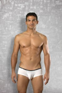 Doreanse Thin Waistband Boxer Brief Underwear White 1781