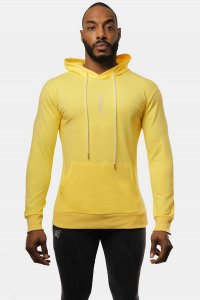 Jed North Motive Hoodie Long Sleeved Sweater Yellow JNTOP031
