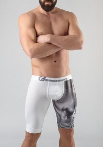 Geronimo Long Boxer Brief Underwear White 1752B9