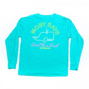 Party Pants Moby Og Long Sleeved T Shirt Seafoam PM201208