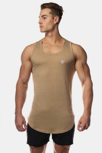 Jed North Vital Muscle Top T Shirt Beige JNTOP041