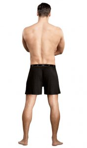 Male Power Bamboo Loose Boxer Shorts Underwear Black 160-171 USA1