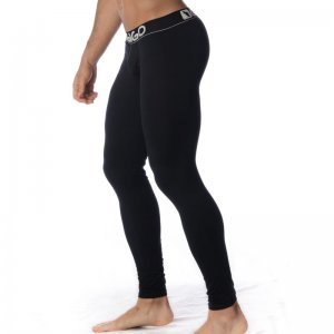 Gigo BLACK Extra Long Boxer Long Johns Long Underwear Pants G11045