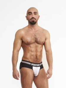 Mister B Urban Antwerp Jock Brief Jock Strap Underwear White...