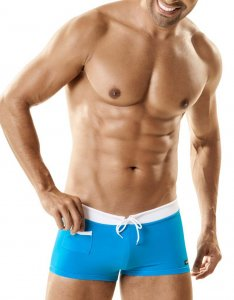 WildmanT Ball Lifter C-Ring With Banned Square Cut Trunk Swimwear Teal WT-35B