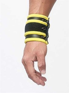 Mister B Neoprene Wrist Wallet Armband Black/Yellow 341020