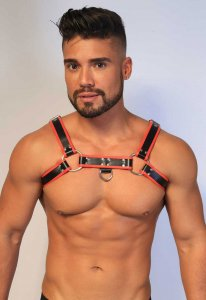 Kristen Bjorn Faux Harness III Black/Red