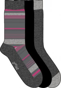 [3 Pack] 2xist Multi Stripe Socks Grey 19G062-NMHPH