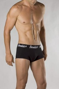 Grundies Plain Fit Shorts Boxer Brief Underwear Black