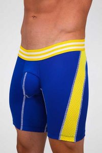 Pistol Pete Ringer Compression Shorts Royal/Yellow CS208-203