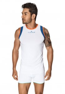 Clever Xavier Tank Top T Shirt White 7022