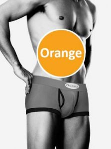 Nukleus Fruit Honeydew Joy Boxer Brief Underwear Orange NFR-9066