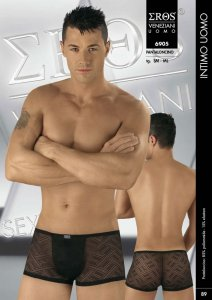 Eros Veneziani Sheer Criss Cross Solid Pouch Boxer Brief Underwear 6905
