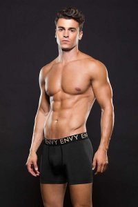 Envy Micro Low Rise Logo Elastic Boxer Brief Underwear Black E045