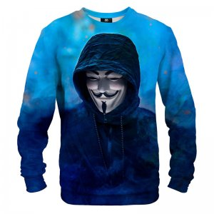Mr. Gugu & Miss Go Anonymous Blue Unisex Sweater S-PC1404
