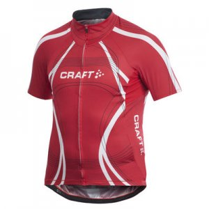 Craft Performance Bike Tour Short Sleeved T Shirt Bright Red 1901276