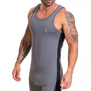 Jor RUNNER Tank Top T Shirt Grey 0515
