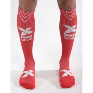 DMXGEAR Sporty Compression Knee Socks Red