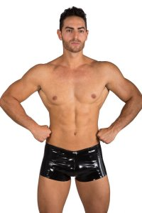 Eros Veneziani Lack PVC Anatomic Boxer Brief Underwear Black 7320