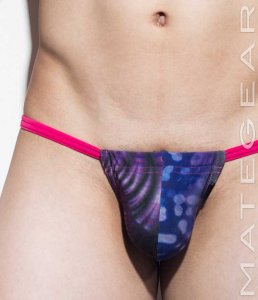 Mategear Yong Jin Adjustable Front Mini Active Thong Underwear Purple/Blue 1360703