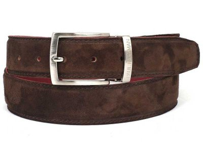 Paul Parkman Belt Brown Suede B06-BRW