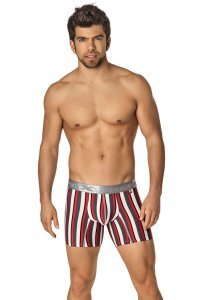 Xtremen Microfiber Boxer Brief Underwear Red 51329