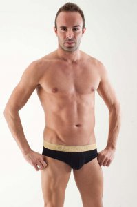 Geronimo Contour Brief Underwear Black 1362S2