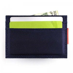 Ulterior Motive Nylon Card Case Navy Blue/Pink