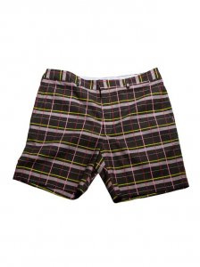 Breese Plaid Shorts Black BLKPLD100