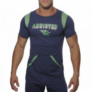 Addicted Lounge Short Sleeved T Shirt Navy AD162