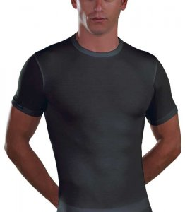 Lord Micromodal Short Sleeved T Shirt Charcoal 387