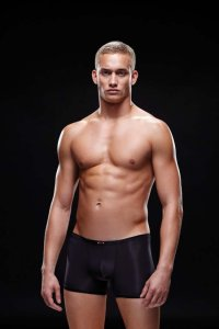 Envy Microfiber Boxer Brief Underwear Black E023