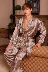 Lovely Day Lingerie Men's Leopard Robe ML1072